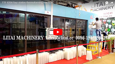 TTF-820A four-station thermoforming machine